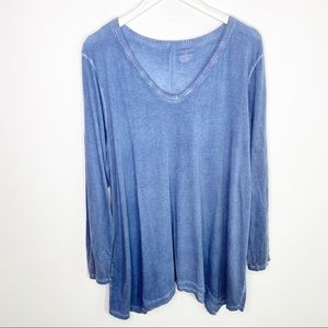 Lane Bryant Blue Long sleeve Blouse 22/24